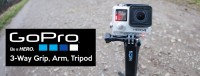 Go Pro 3-Way Grip With Arm And Tripod Selfie Stick